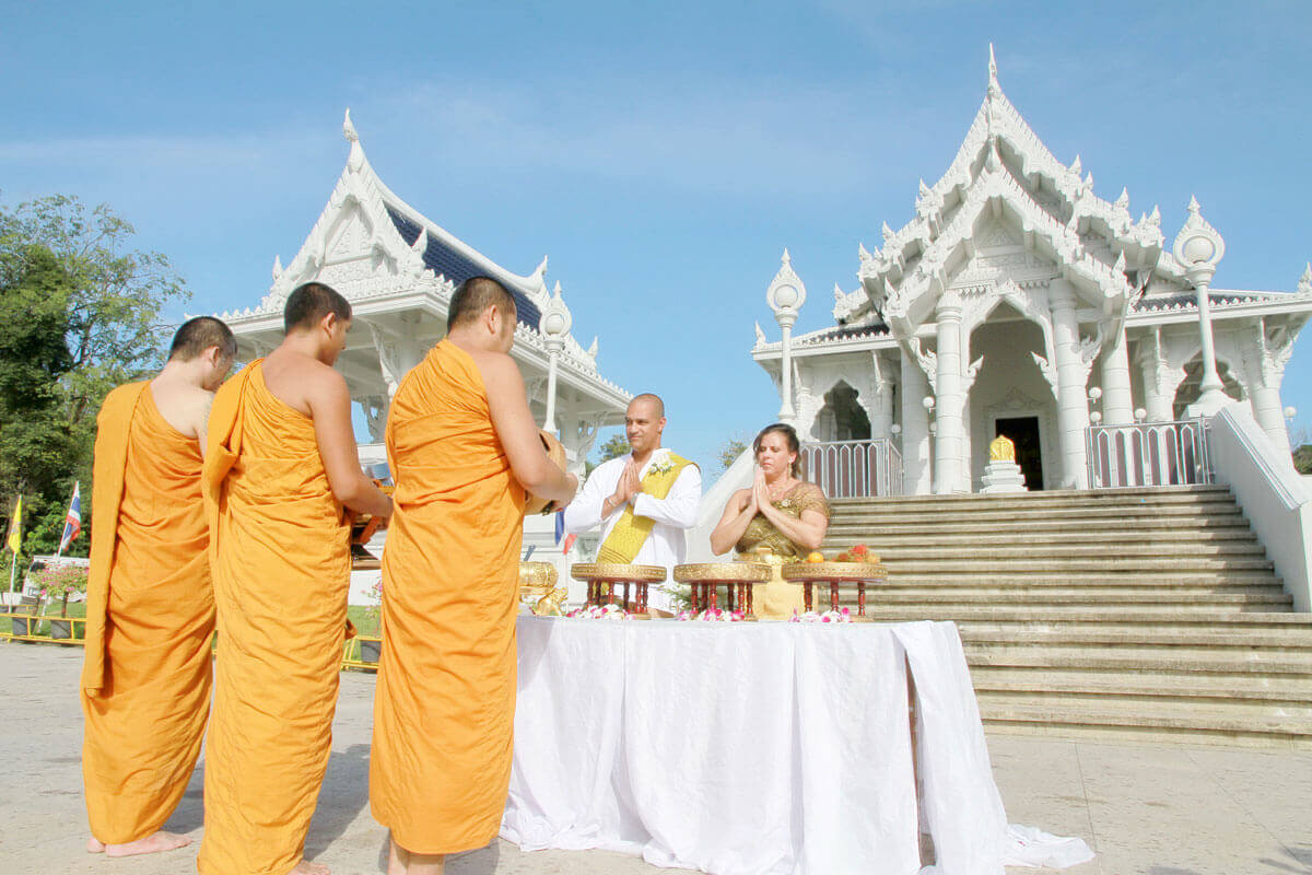 Promotion Temple Buddhist Blessing Package Morning